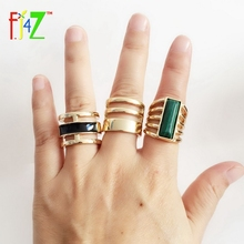 3packed 2016 Men's Finger Ring Sets TopFashion Quality Hollow golden Alloy Peacock Stone Oil Rings for Woman anillos de mujeres