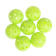 50pcs Green/White Golf Practice Balls Plastic Whiffle Airflow Hollow Golf Training Ball With 26pcs holes Sports Training Tennis(China)