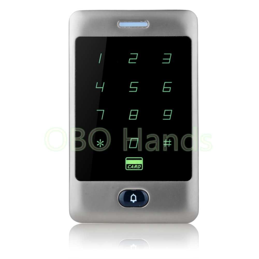 New beautiful design metal touch waterproof panel door access control system silver electric digital lock 125KHz card reader-C30<br>