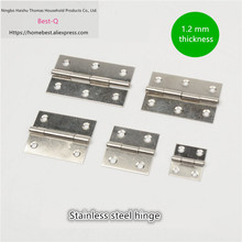 Free shipping Stainless steel small hinge 1/1.5/2/2.5/3 inch bags hinge cupboard door hinge micro window(China)