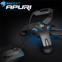 Roccat Apuri Active USB Hub with Mouse Bungee,Mouse cord holder, Mouse cord clip, Brand New In Box & Original, Free shipping