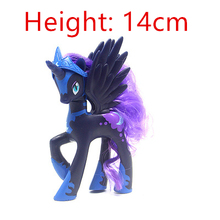 14cm my Anime Toy Collection Princess Celestia Luna Nightmare Night a Cute Unicorn Rarity Kunai Horse  Toys