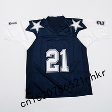 Retro star #21 Deion Sanders Embroidered Name&Number Throwback Football Jersey(China)
