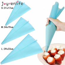 Cheap 3 Sizes Reusable Silicone Cream bags crowded flower bags Decorating bags DIY Cake Decorating Baking Tool
