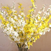 5Pcs/lot Beautiful Real Touch 35'' Artificial Oncidium Orchid Silk Flower Home Wedding Party Decoration