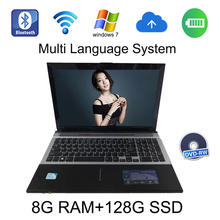 2017 Hot selling windows 10 system 15.6 inch laptop Intel Celeron J1900 2.0GHz 8G ram 128G SSD in camera with DVD-RW