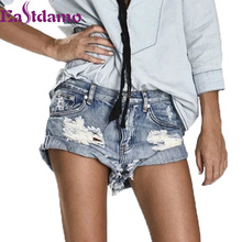 Eastdamo 2017 Sexy Ripped Jeans Shorts Vintage Slim Jeans Woman Denim Shorts Casual Hole Ripped Jeans Shorts Bottoms Plus Size