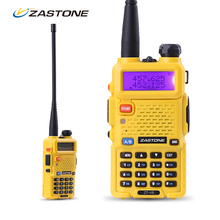 Zastone ZT-V8 Dual Band VHF/UHF Handheld Two Way Radio Professional Long Range Walkie Talkies Headsets Portable CB Radio Yellow