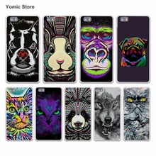 New Jungle Animal Wolf Tiger lion cat animal face hard White Case Cover for Huawei P7 P8 P9 Lite P9 Plus Mate 9 8 7 S Phone Case