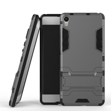 For Sony Xperia XA Case F3111 F3113 F3115 Heavy Duty Armor Case Hybrid Hard Silicone Rubber Phone Case Cover For Sony XA Dual(<