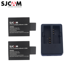 Original Sjcam 1PC Dual Charger +2PCS Batteries for Sjcam Sj5000 Sj5000x Sj5000 Plus Sj4000 / M10 Series Sports Action Camera(China)