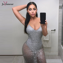 Summer dress for women 2017 Sexy Club Women sequins Dresses Silver color bodycon vestidos Sexy party night beauty clothing