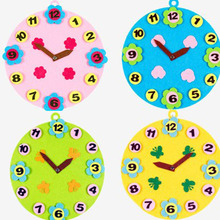 ZY DIY 4 Candy Color For Choose 3MM Felt Moveable Clock Kids Early Leanring Felt Fabric Children handmade Nonwoven Decoration(China)