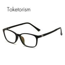 Toketorism ultraleve titanium feminino plástico óculos homens tr90 óculos  claros 1261 8857b18004
