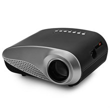 H60 Mini LCD Projector 60 Lumens 480 x 320 Resolution 16:9 Aspect Ratio With HDMI VGA IR USB SD Card DC Headset Slot EU Plug