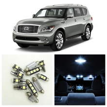 13pcs Canbus Car LED Light White Bulbs Interior Package Kit For 2011 2012 2013 Infiniti QX56 Map Dome Trunk Door Lamp