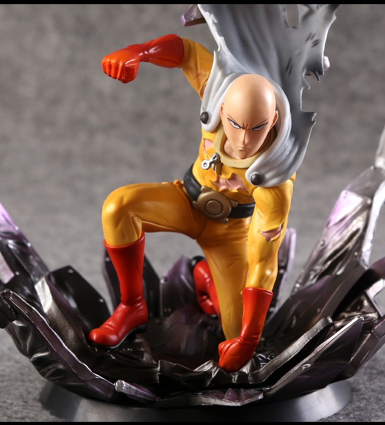 One Punch Man Saitama 1/6 Scale Painted Figure Saitama Doll Brinquedos Anime PVC Action Figure Collectible Model Toy 24cm KT3408<br>