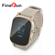 FineFun 2017 T58 Smart GPS Tracker Enfants Montre Bébé SOS Bouton GSM GPS Positionnement de Suivi Montre-Bracelet Compatible IOS Android(China)