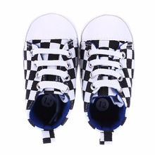 0-18 Month Baby Black and White Sneaker Newborn Baby Soft First Walkers Baby Shoes Fashion Casual Anti-Slip Toddler Walk Sneaker