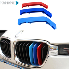 3PCS Styling Car Front Grille Trim Sport Strips Cover Motorsport Performance Stickers for BMW 3 Series F10 F11 8 Bars 2013-2016