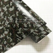Digital Camo Vinyl Wrap Car Motorcycle Decal Mirror Phone Laptop DIY Styling Camouflage Sticker Film Sheet(China)
