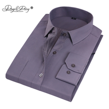 DAVYDAISY Man Work Shirts High Quality Long Sleeve Simple Solid Striped Twill Male Formal Shirts Men Dress Shirt 16 Colors DS006(China)