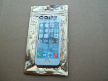 10*18cm Clear Golden Self Seal zipper Plastic Retail Packaging Poly pp Bag, Package Bag for iPhone 4S 5 5S Samsung s3 s4 case