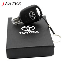 JASTER Toyota car key with gift box USB Flash Drive Pendrive  4GB 8GB 16GB 32GB 64GB USB 2.0 Memory Stick U disk retail box