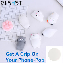 3D Mini Squishy Cat Seal Cute Pop Phone Holder Straps Slow Rising Soft Press Squeeze Kawaii Kids Toy Phone DIY Accessories(China)