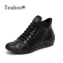 2017 New Women Boots Fashion Zapatos Mujer Ankle Boots for Women Round Toe Shoes Woman Motorcycle Boots Donna Martin Boots Black