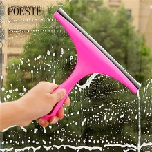 New Simple Durable Window Mirror Car Windshield Squeegee Glass Wiper Silicone Blade Cleaning Shower Screen(China)