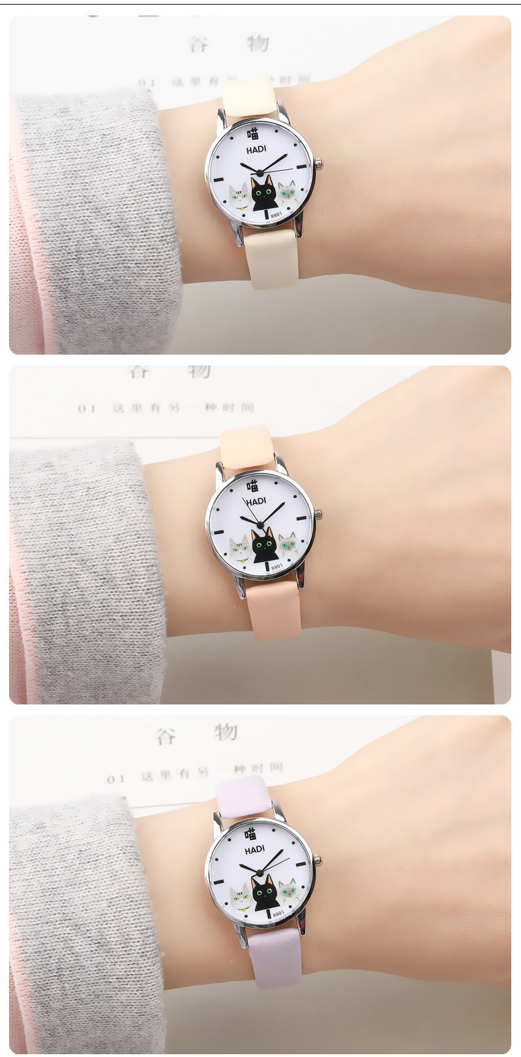 Japanese small fresh girl child wild watch female Korean version of the simple Harajuku cute middle school students soft gi 6