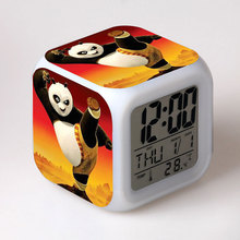 Anime Figure Kung Fu Panda 3 LED Color Growing Touch Light Temperature Desk Watch Kungfu Panda Baby Toys(China)