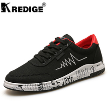 KREDIGE New Summer Men's Canvas Lace-Up Shoes Hard-Wearing Soles Casual Shoes Men Increased Deodorant Tide Shoes Big Size 39-44(China)