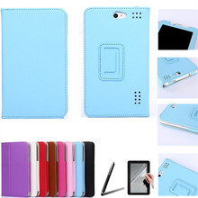For Prestigio MultiPad Wize 3147 3G 7 Inch Tablet PU Leather Cover Case Free Protective Film&Stylus Pen 16127B(China)