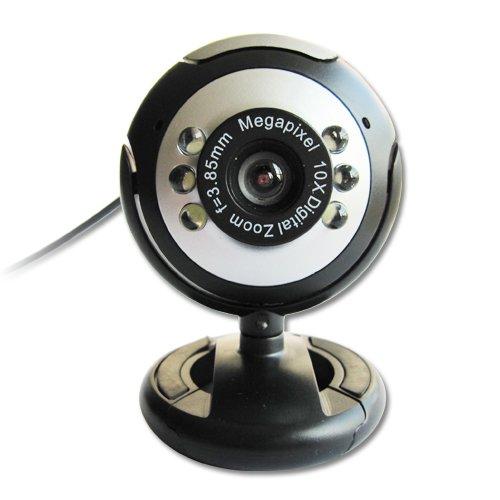 USB 30.0M 6 LED Webcam Camera Web Cam With Mic for Desktop PC Laptop<br><br>Aliexpress