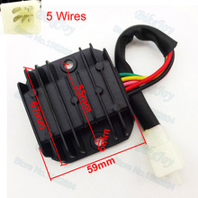 5 Wires Voltage Regulator Rectifier Plug For GY6 50cc 125cc 150cc CG125 Dirt Pit Bike ATV Quad Buggy Go Kart Motorcycle