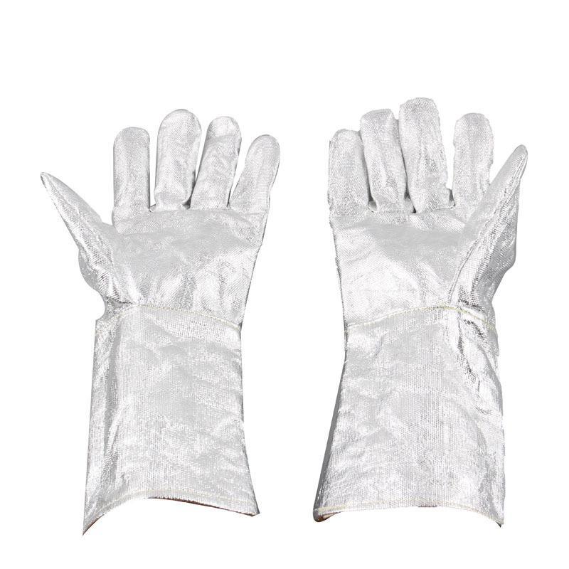 Industrial Flame Radiation High Temperature Resistant Aluminum Foil Gloves Heat Insulation Gloves Fire Resistant Safety Gloves<br><br>Aliexpress