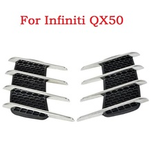 New Car Shark Gills Exterior Decor Side Air Intake Vent Air Flow Grille Vent Outlet New Styling For Infiniti QX50