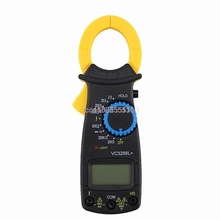 LCD Digital Clamp Multimeter AC DC Volt Voltage Amp Ohm Electronic Tester Meter