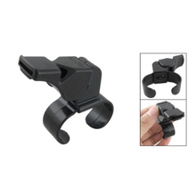 Wholesale 5* Black Plastic Pealess Finger Grip Sports Referee Whistle(China)