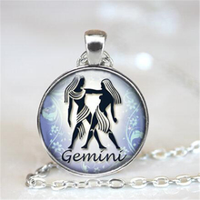 Gemini Necklace Zodiac Jewelry Astrological Sign Gemini Birthday Jewelry Gemini Horoscope Pendant Choker Necklace