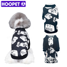 HOOPET pet dogs clothes Puppy handsome black printing baseball uniform Breathable Handsome Sweater Pet Clothes Summer(China)