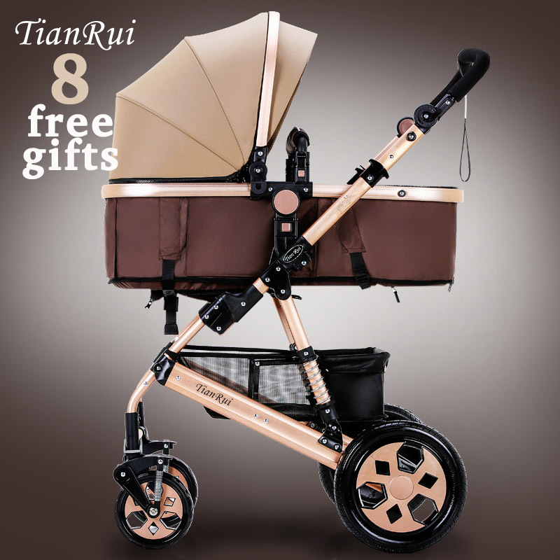 TIANRUI Baby Stroller 8 Free Gifts Folding Carriage Pushchair Portable Pram High Landscape Newborn Infant Sit and Lie 4 Wheels<br><br>Aliexpress
