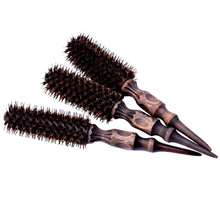 S/M/L Wood Handlle Pig Mane Nylon Bristles Salon Hairdressing Brush Barrel Radial Curling Hair Brush Comb Hairdresser Hairbrush(China)