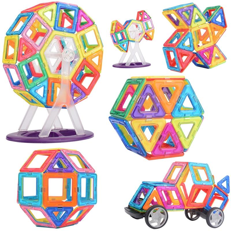 Retail 115 pcs Magnetic building blocks construction toys for toddlers Designer magnetic toys Magnet model building toys<br><br>Aliexpress