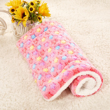 Holapet Cute Warm Pet Bed Mat Cover Cozy Soft Coral Fleece Blankets For Small Medium Large Dogs Cats Winter Pet Supplies S-XL(China)