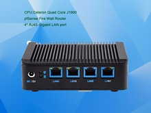 Intel Fanless Mini PC Celeron Quad Core J1900 4 LAN Server Computer Pfsense firewall Multi-function Mini pc Router VGA WIFI