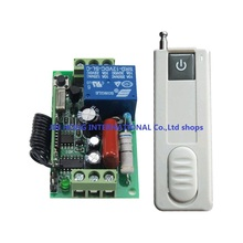 220V 1CH Wireless Remote Control Switch System 1 Receiver&Wall one key transmitter Light Lamp LED Remote Switch Learning Code