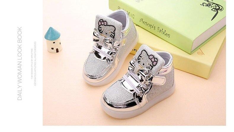 KT Chats Enfant Lumineux Sneakers 2018 avec lumière 16